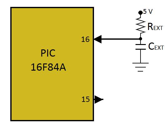 fig 2.9 Configuración de oscilador tipo RC